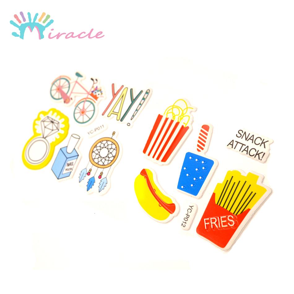 Custom kids special design cartoon puffy stickers for children diy
