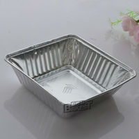 rectangular/square/round aluminum foil container/tin food container/smooth/bread/cake/lunch box/lids #4381-0348