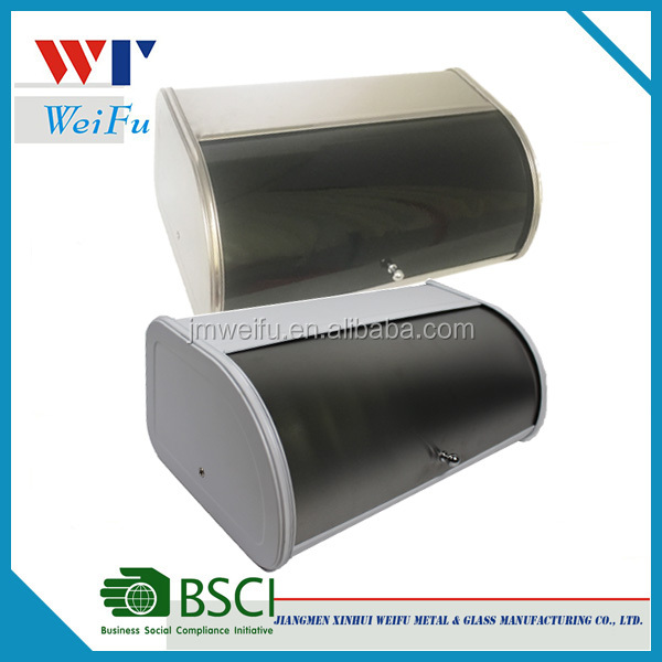 Home Brushed Stainless Steel Bread Box Food Storage Bin  sc 1 st  Alibaba & Buy Cheap China stainless steel bread bin box Products Find China ...