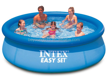 intex easy set round inflatable swimming pool for family kids fun swimming pool quick up buy. Black Bedroom Furniture Sets. Home Design Ideas