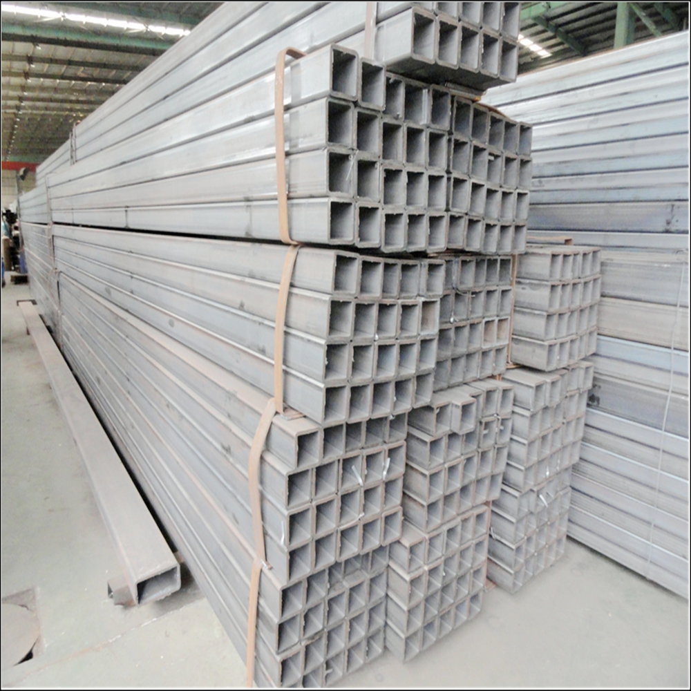 Q345 Carbon steel hot rolled zinc coating steel hollow tube square pipe
