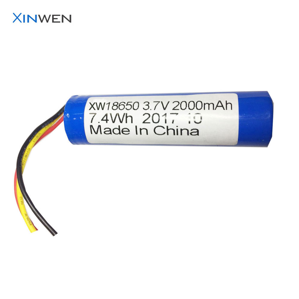 high quality battery supplier icr18650 2000mah 3.7v rechargeable battery
