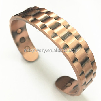 Whole Therapy Magnet Jewelry Heavyweight Pure Copper Magnetic Bracelet For Arthritis Mens