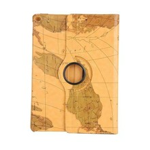 2017 Various Designs World Map Pattern Rotating Tablet Leather Flip Case Sleeve for Huawei IDEOS