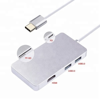 china factory products cheap items to sell Compatible USB2.0 or lower usb c cable with USB3.0 HUB*2/3+PD+SD/TF card reader+HD-MI