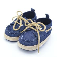 Toddler First Walkers Cotton Canvas Shoes Infant Sneaker Soft Bottom Baby Crib Shoes Lace 1-3Y Free Shipping
