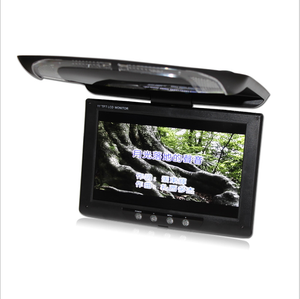 Top quality 9 inch car monitor digital led display car roof mount lcd monitor with tv