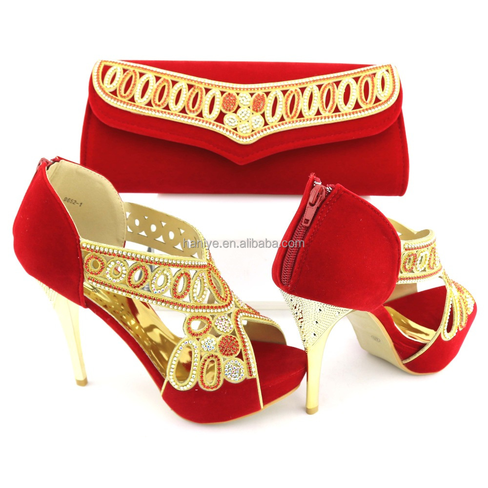 Italian shoes African shoes heel bag with Lady bag and wedding high shoes sets Clutch Nigeria party bags style matching URU0rw