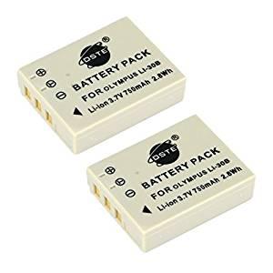 DSTE® 2x Li-30B Replacement Li-ion Battery for Olympus Stylus Verve Digital Stylus Verve Digital S μ-mini Digital μ-mini Digital S Camera