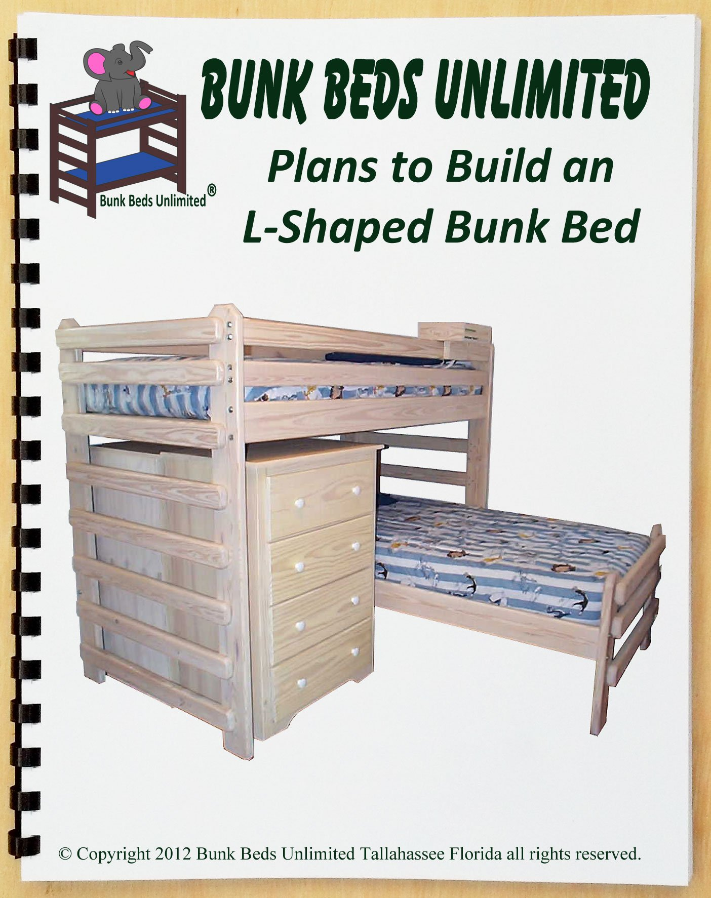 Bunk Bed DIY Woodworking Plan to Build Your Own L-Shaped Twin over Twin