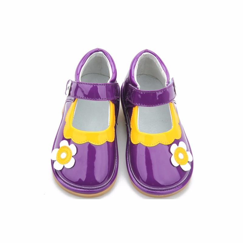 3daeb1427 Púrpura Con La Flor Chica Niños Squeaky Sandalias Zapatos - Buy ...