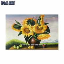 BC16-J0400 wholesale DIY digital flower oil painting by numbers on canvas for office decor
