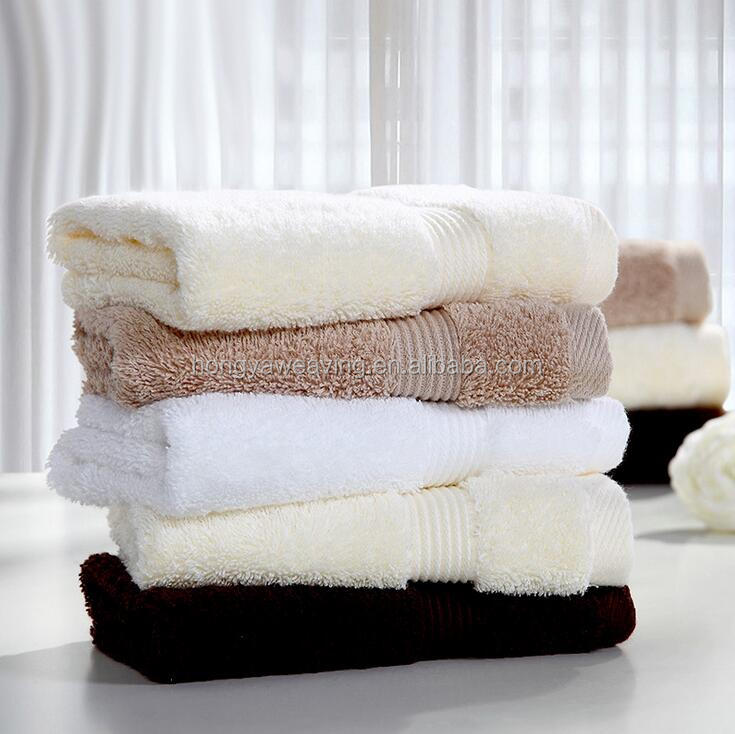 Hoge kwaliteit 100% katoen dobby grens luxe hotel handdoek