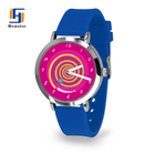 2017 New Arrival Silicone Strap Multi Color Customizable Logo Watch With Top Qualtiy