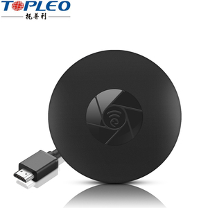 Easy design H.265 hard decoding output dlna chromecast miracast airplay dongle for satellite receiver