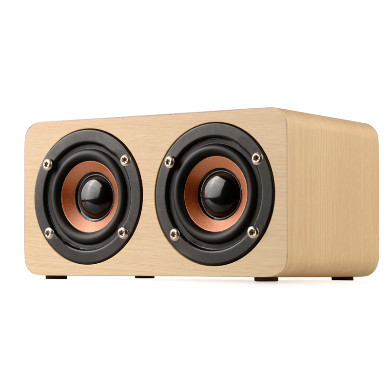 CASUN mobilephone bluetooth speaker indoor universele natuurlijke bamboe hout bluetooth speaker