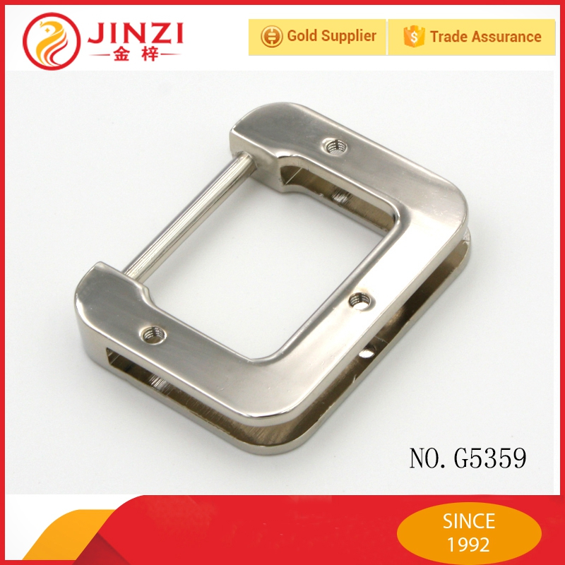 Luxury decorative metal square ring for purse strap