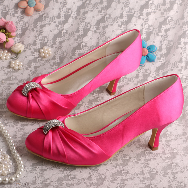 Pink Low Heel Wedding Shoes: Aliexpress.com : Buy (20 Colors)New Arrival Medium Heel