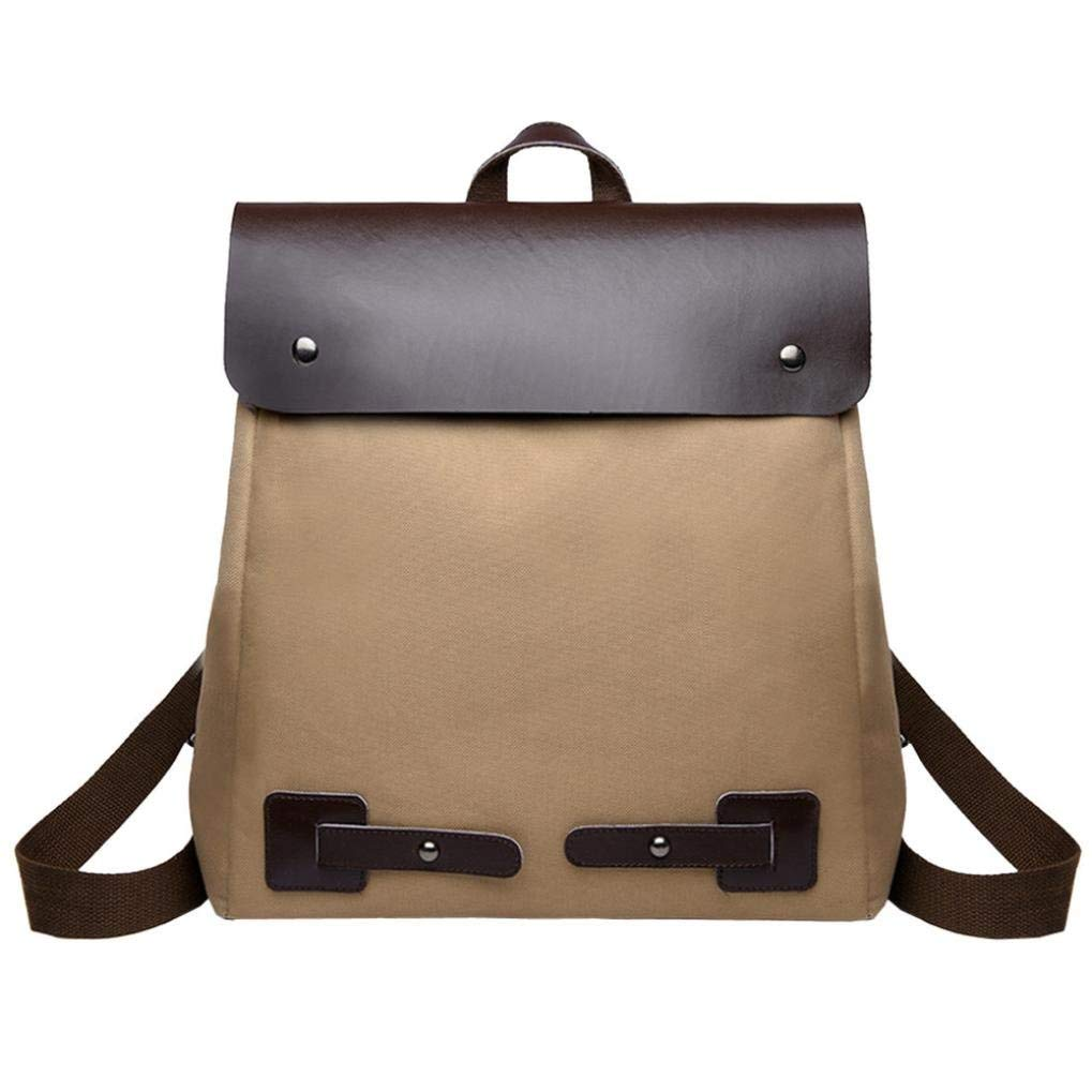 Trend Backpack for Vintage Women Student Patchwork Canvas Shoulder School Bag Tote