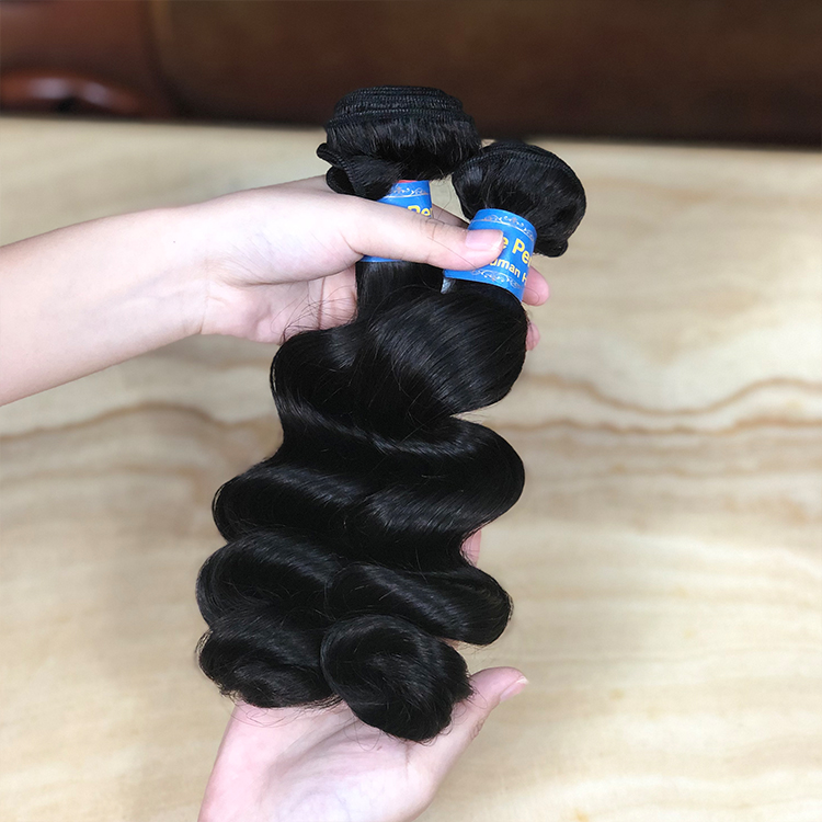 Queen Hair Raw Weft Bulk Double Drawn Cuticle Aligned Hair Virgin Indian Temple Hair Vendor Loose Wave Weaving Bundles