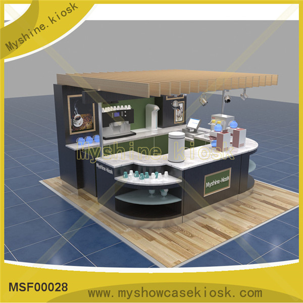Newest design modern kiosk coffee kiosk for coffee shop counter design