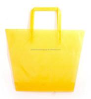 Trapezoid Style Soft Loop Custom Printed Plastic Shopping Bag