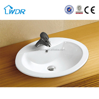 Chaozhou cheap oval porcelain bathroom sinks