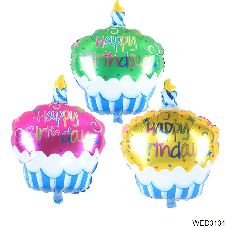 Happy Birthday Party Decorations Kids Cake Balloons Air Balls Helium Foil Candle