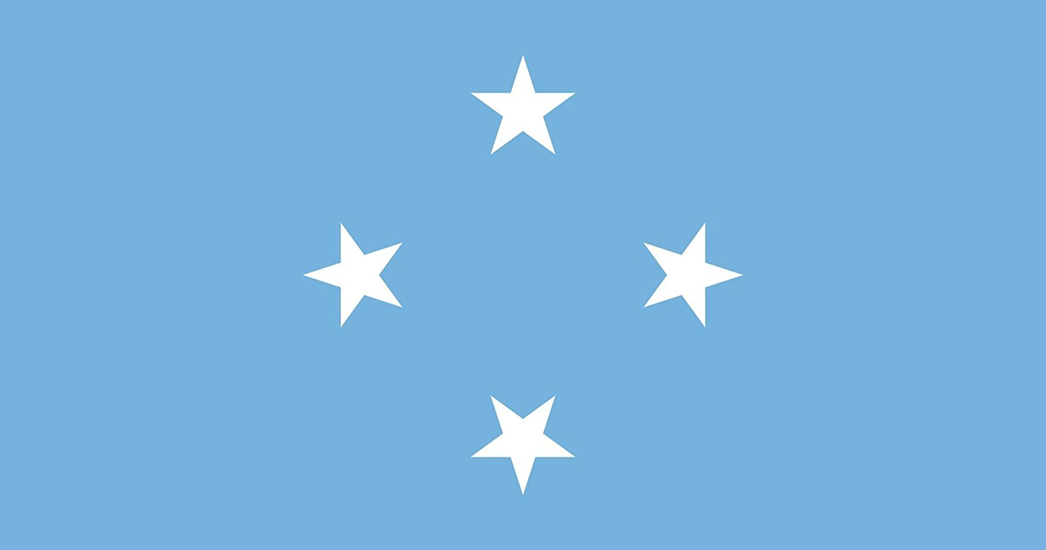 magFlags XXXS Flag Micronesia 30x45cm | 1x1.5foot -- 100% Made in Germany -- long lasting outdoor flag