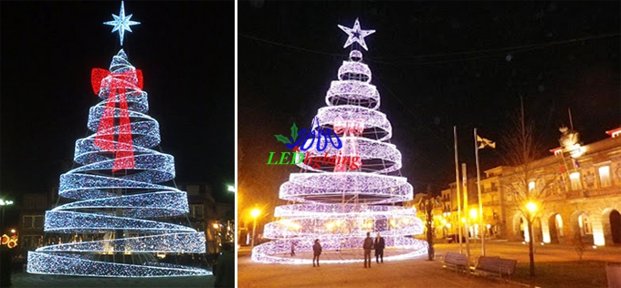 Led Spiral Tree White Outdoor Lighted Christmas Trees