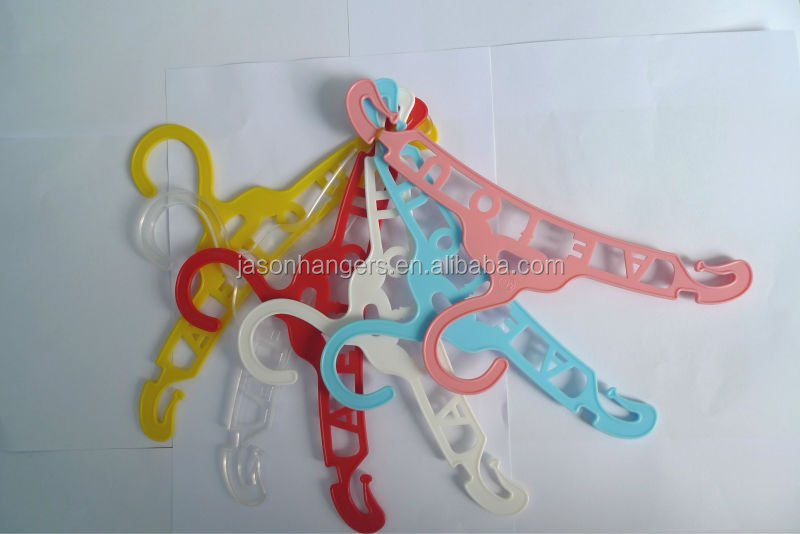 LGH006 adorable colorful plastic clothes hangers