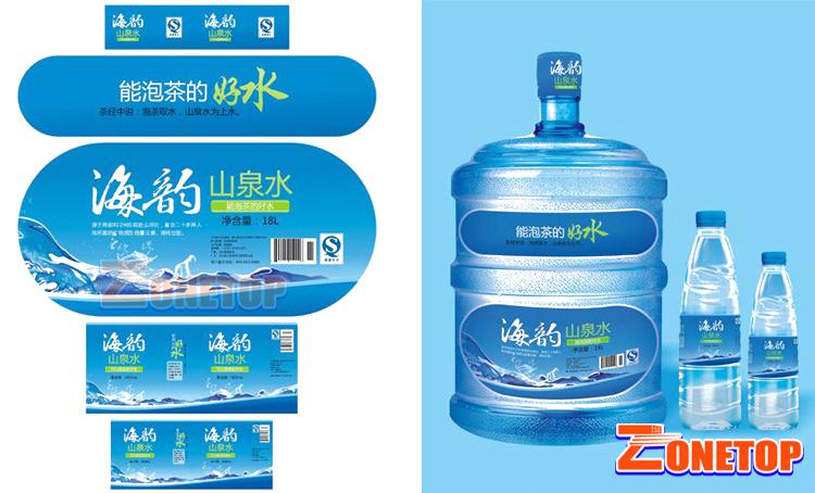 حار بيع مخصص ملصقات زجاجات المياه/البلاستيك زجاجة المياه تسمية طابعة