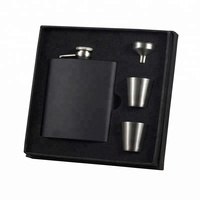 Best Christmas Gift Luxury Stainless Steel Hip Flask Gift Set