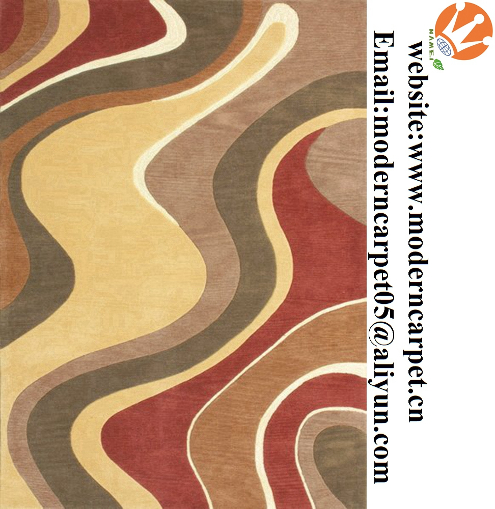 Hand tufted abstract modern design area rugs