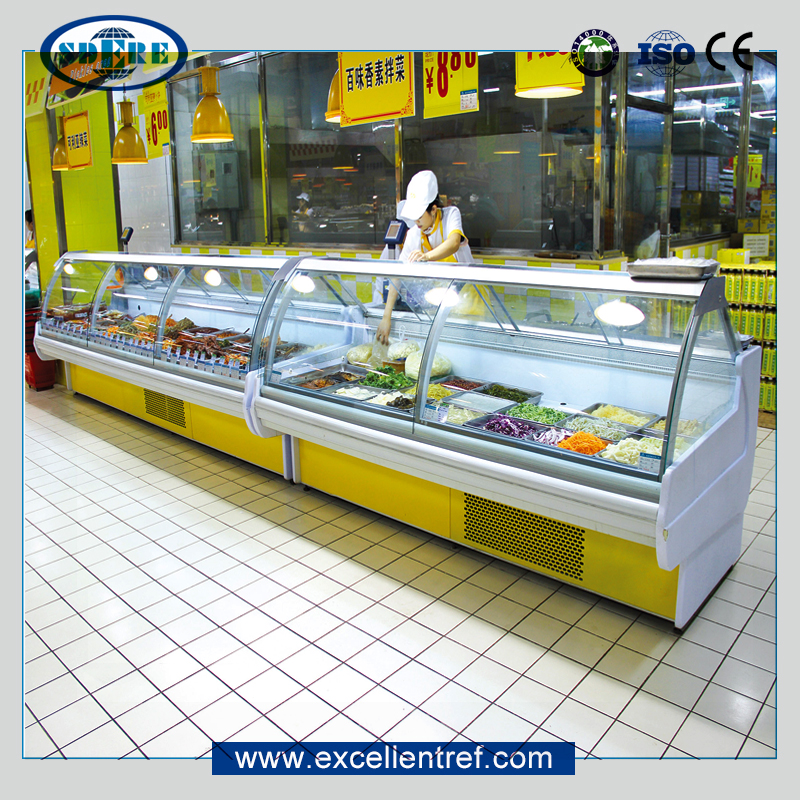 DSA25CCL1 Service Counter Display Refrigerator Meat Chiller Deli Case as Butcher Equipment