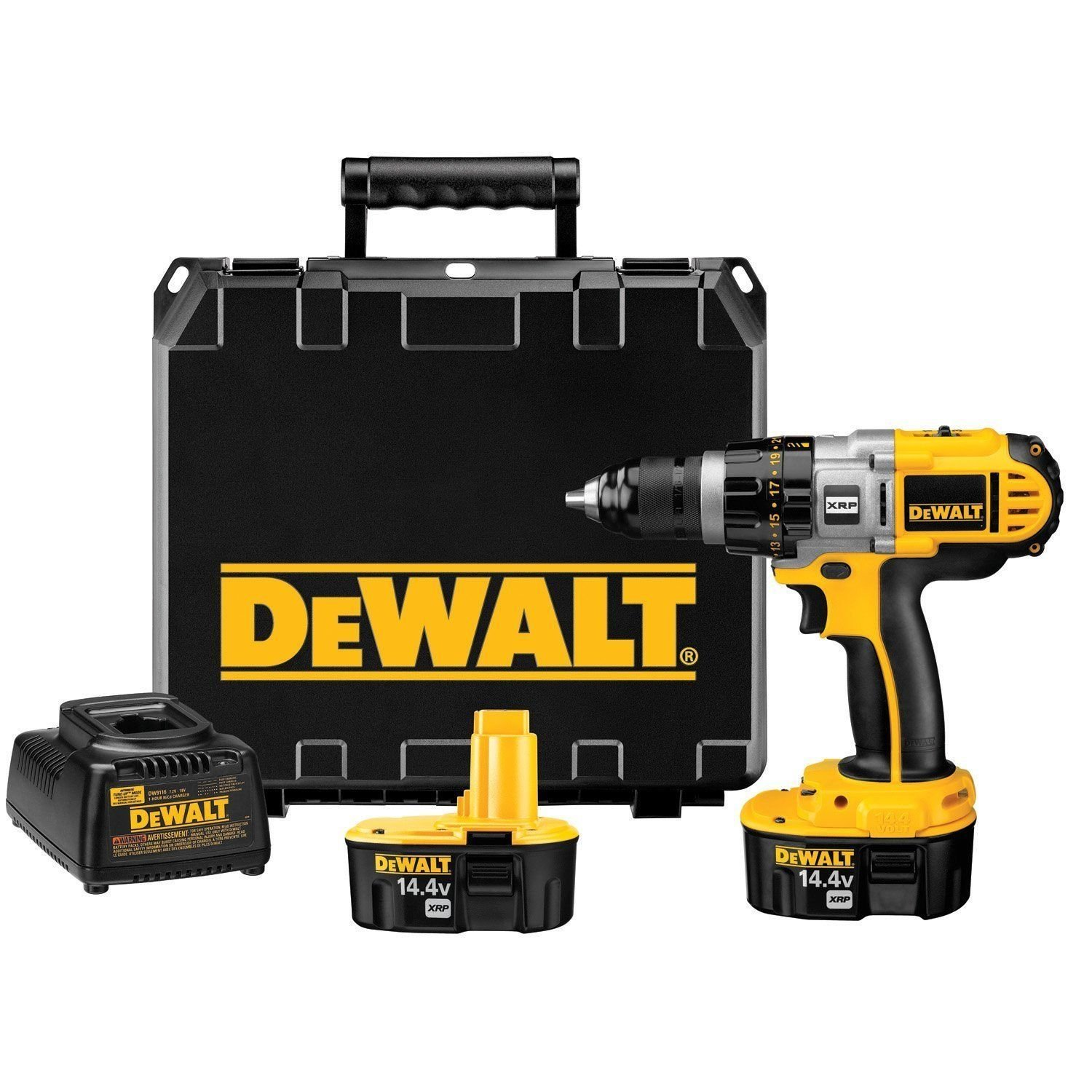 DeWALT DCD920KX 14.4-Volt Ni-Cad XRP Cordless 1/2 in. Drill/Driver Kit NEW ;from#jnw_wholesale__JENT195291749627896