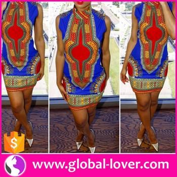 Großhandel Afrikanischen Print Kleider Stile Foto Dashiki ...