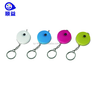 Plastic Creative Small Measuring Tape 1 meter BMI Printable Tailor Carabiner Tape Measure Keychain