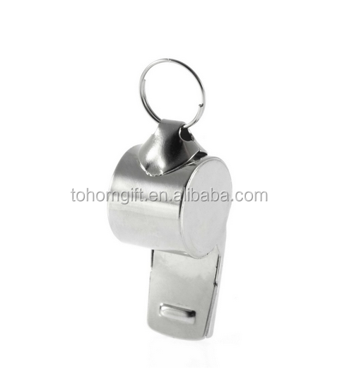 Custom logo Holland metal whistle with lanyard