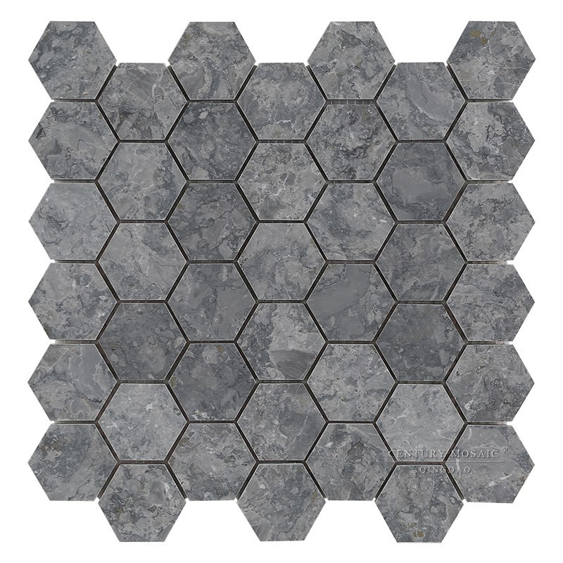 New Material Babylon Gray Hexagon Mosaic Tile For Home Decoration Tiles Colored Product