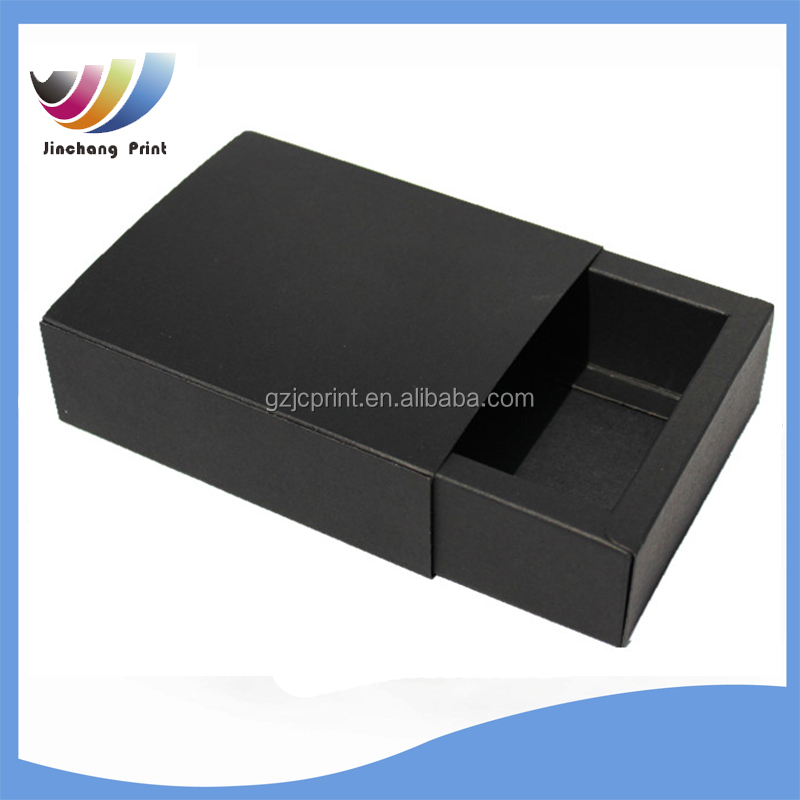 black paper drawer box / sliding drawer paper packaging box / paper box with a drawer