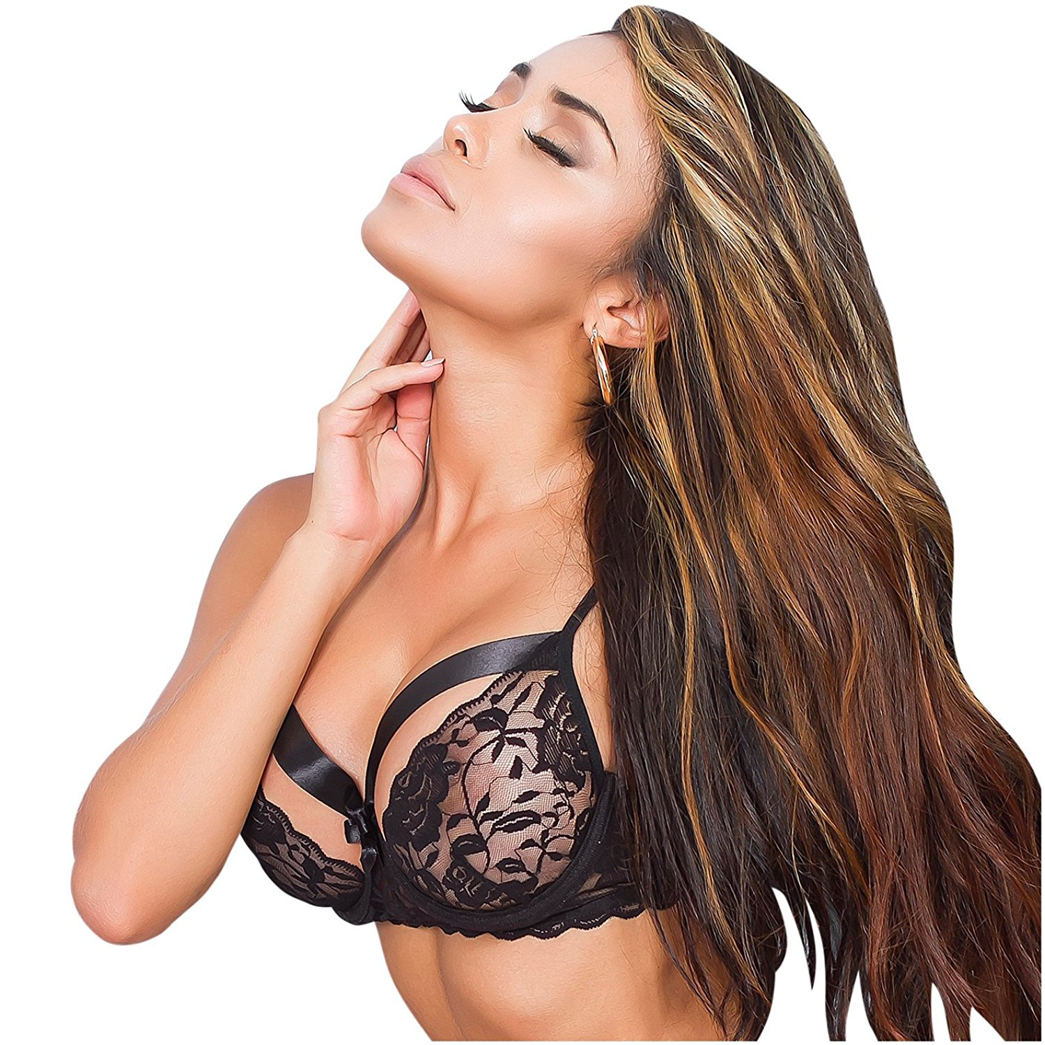 2c18df4473 Get Quotations · Amawi 0606 Pekaboo Lace Bra For Women Ropa Interior  Femenina Colombiana Sensual