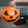 halloween air blown decoration inflatable round pumpkin