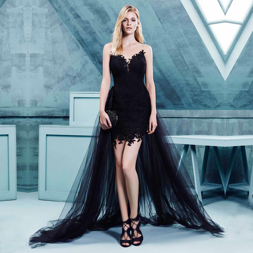 Aliexpress Com Buy Simple Elegant See Through Lace Part: Popular Detachable Skirt Prom Dresses-Buy Cheap Detachable