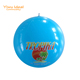 OEM Design Blue Plastic Inflatable Paint Beach Ball