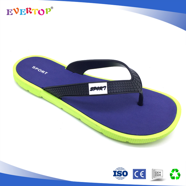8ecefe2609eca1 Mens soft double color sole light weight eva slipper new pvc strap mould summer  slipper sandals