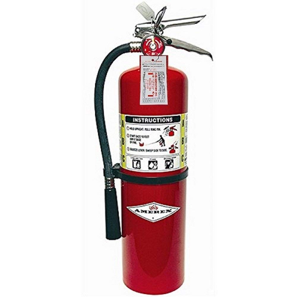 Amerex 10 LB. ABC Fire Extinguisher, Fire Inspection Ready, Certify Tag.