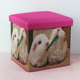 New bedroom shoes changing child stool oxford cartoon square storage ottoman