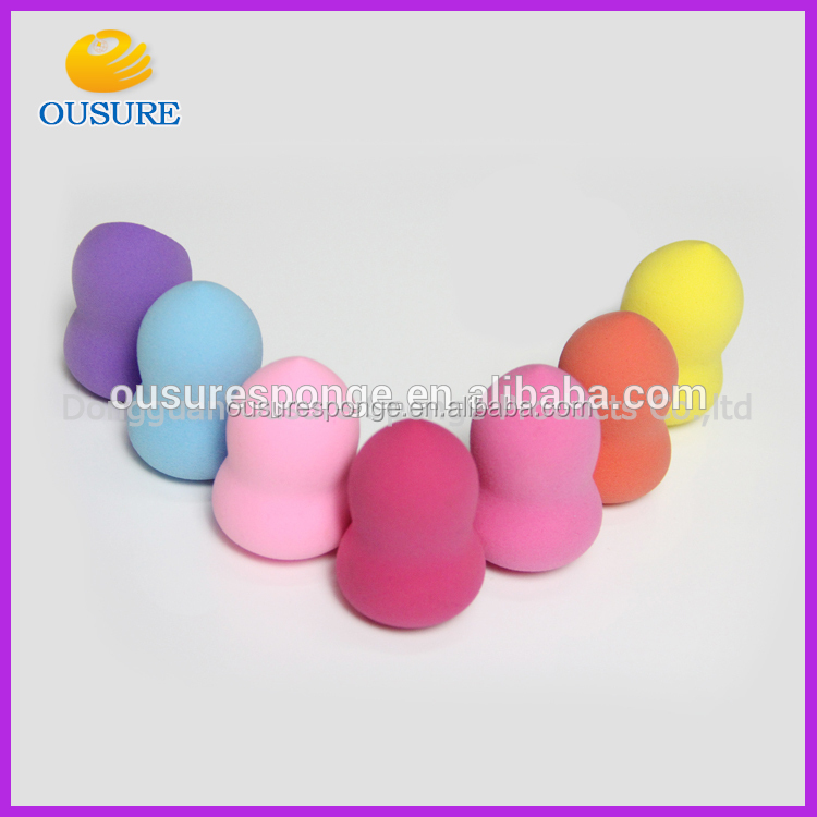 Professional Custom LOGO debossed latex free blender makeup beauty sponge