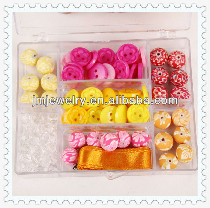 latest design diy kit button beads for jewelry making necklace, bracelet,earings